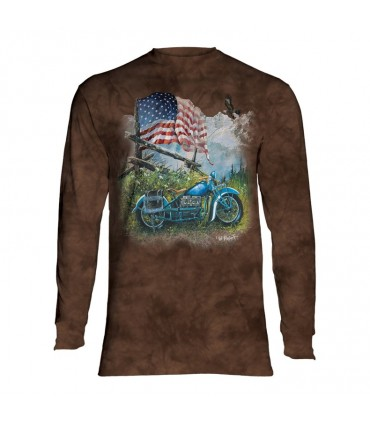 Longsleeve T-Shirt with Biker Americana design