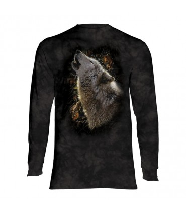 Tee-shirt manches longues motif Loup