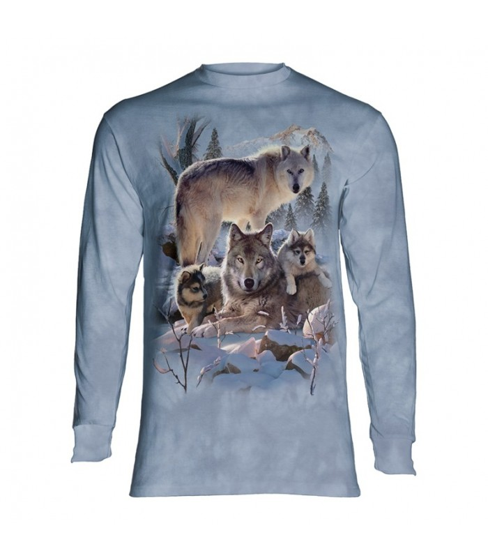 Longsleeve T-Shirt with Wolves design