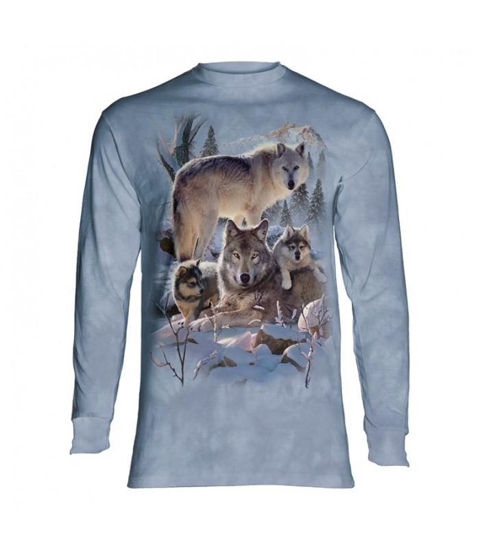 Tee-shirt manches longues motif Loups
