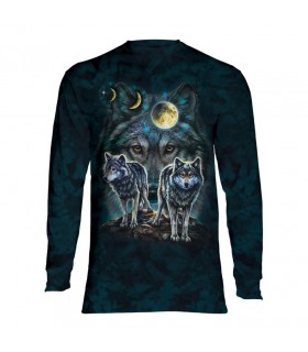 Longsleeve T-Shirt with Northstar Wolves design