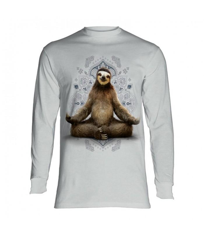 Longsleeve T-Shirt with Vriksasana Sloth design