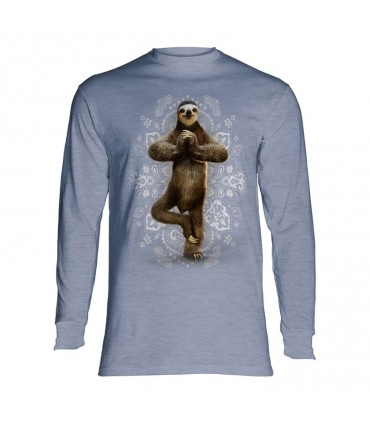 Longsleeve T-Shirt with Namaste Sloth design