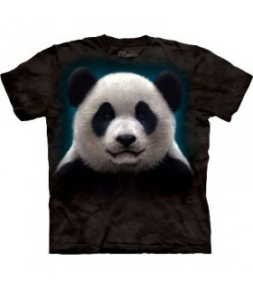 Panda Head - Animals T Shirt by the Mountain