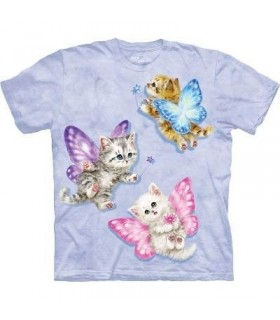 Butterfly Kitten Fairies - Pets T Shirt by the Mountain