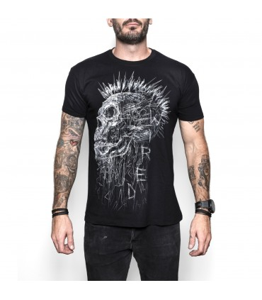 Wired Punk Skull T-Shirt