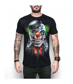 Joker Clown Skull Adult T-Shirt