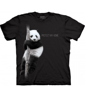 Panda Protect My Home Tri-Blend T Shirt