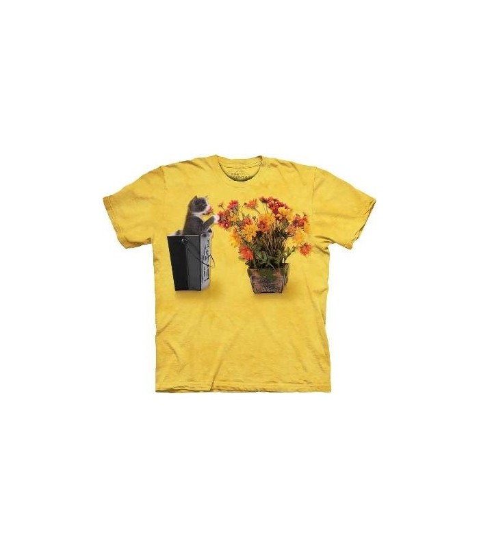 T-Shirt Chaton et Fleurs par The Mountain