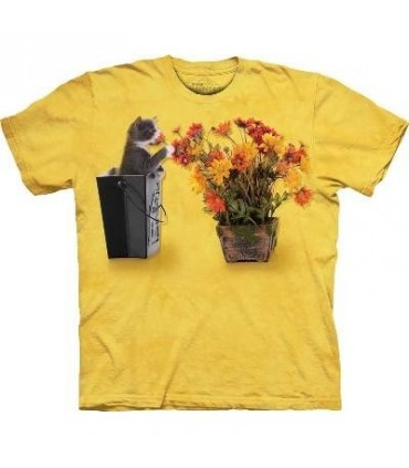 Flower Kitten - Pets T Shirt by the Mountain