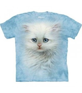 Fluffy White Kitten - Pet T Shirt by the Mountain