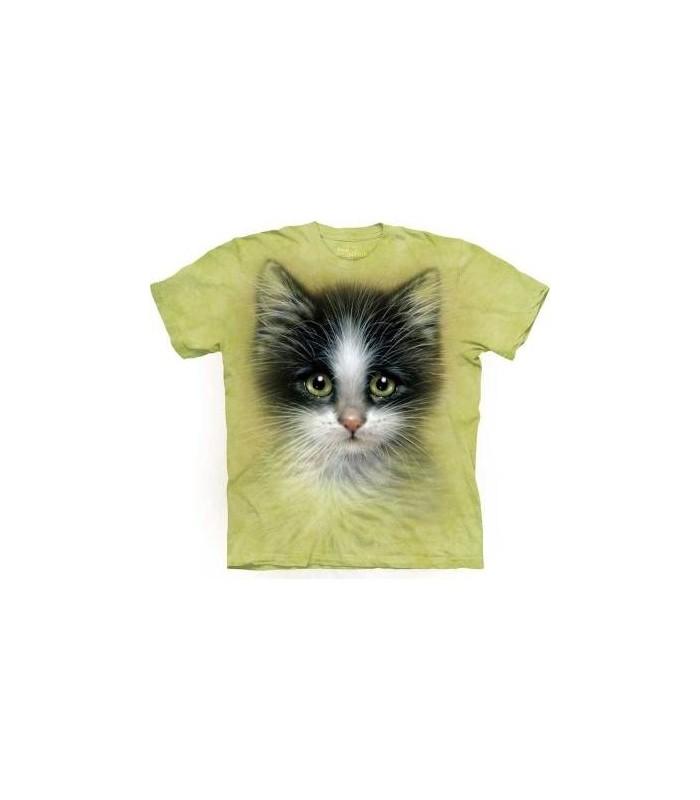 T-Shirt Chaton aux yeux verts par The Mountain