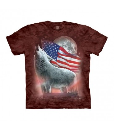 The Mountain Patriotic Wolf T-Shirt