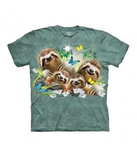 Tee-shirt Famille de paresseux Selfie The Mountain