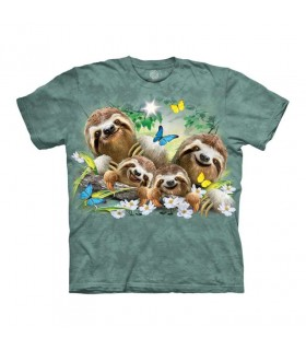 The Mountain Sloth Family Selfie T-Shirt