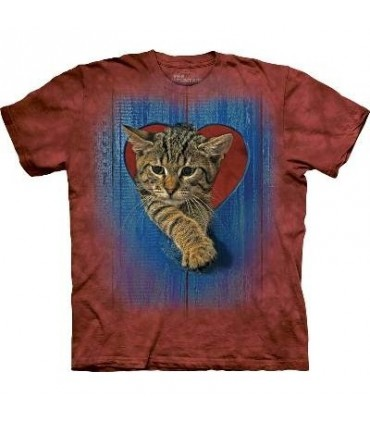 T-Shirt Chaton Coeur par The Mountain