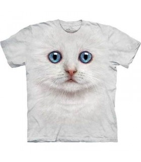 Ivory Kitten Face - Cats T Shirt by the Mountain