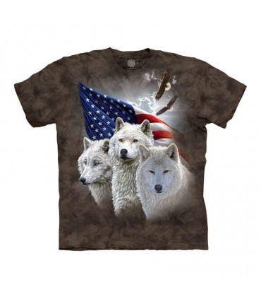 The Mountain Patriotic Wolves T-Shirt