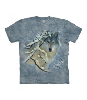 Tee-shirt Loup en hiver The Mountain