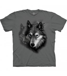 The Mountain Base Wolf Portrait T-Shirt