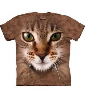 T-Shirt tête de chat rayé par The Mountain