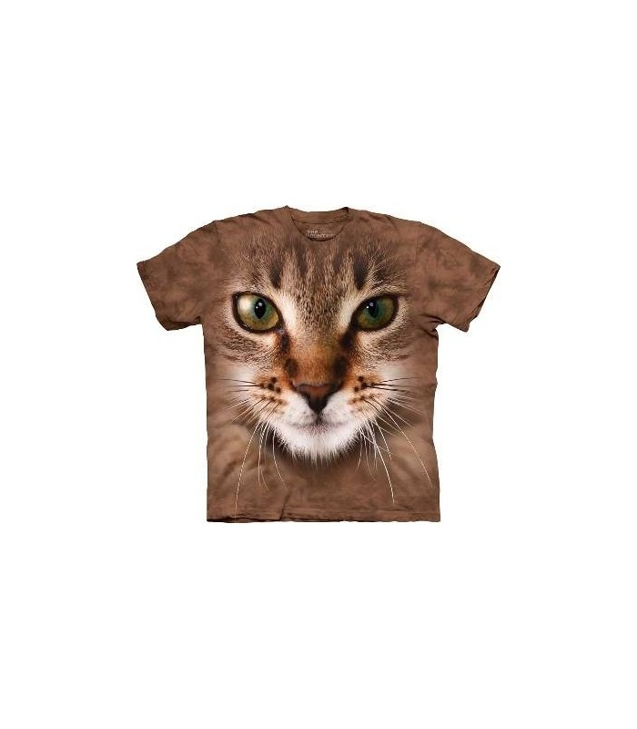Striped Cat Face - Cats T Shirt from The Mountain