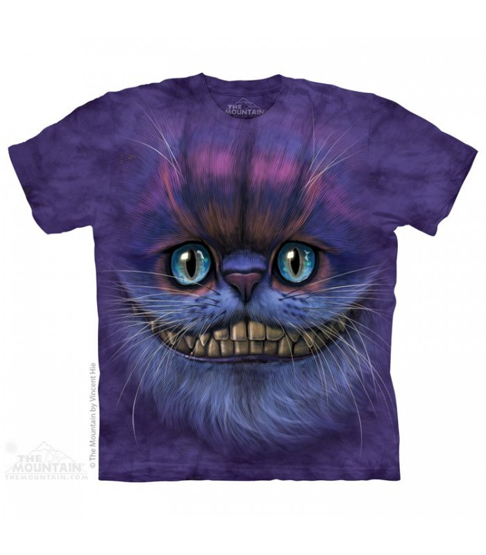 Big Face Cheshire Cat - Fantasy T Shirt The Mountain