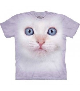 T-Shirt Chaton Blanc par The Mountain