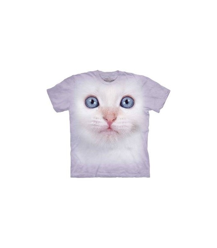 White Kitten Face - Kitten T Shirt by The Mountain