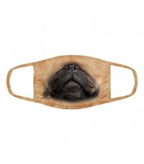 3-ply cotton face mask Pug face design The Mountain