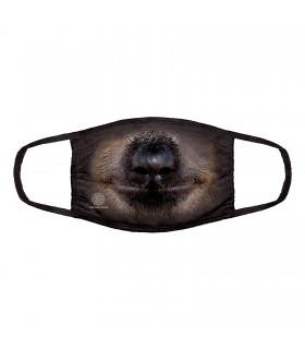 Masque facial 3 épaisseurs en coton motif Paresseux The Mountain