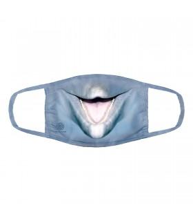 3-ply cotton face mask Big Face Dolphin design The Mountain