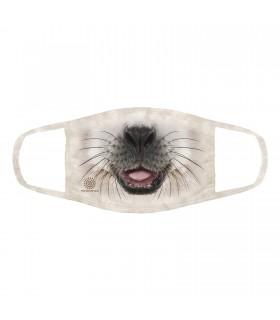 3-ply cotton face mask Big Face Baby Seal design The Mountain