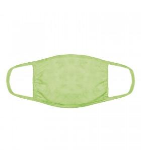 Masque facial 3 épaisseurs en coton motif Vert léger The Mountain