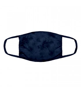 3-ply cotton face mask Navy Blue design The Mountain