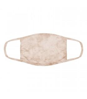 3-ply cotton face mask Light Tan design The Mountain