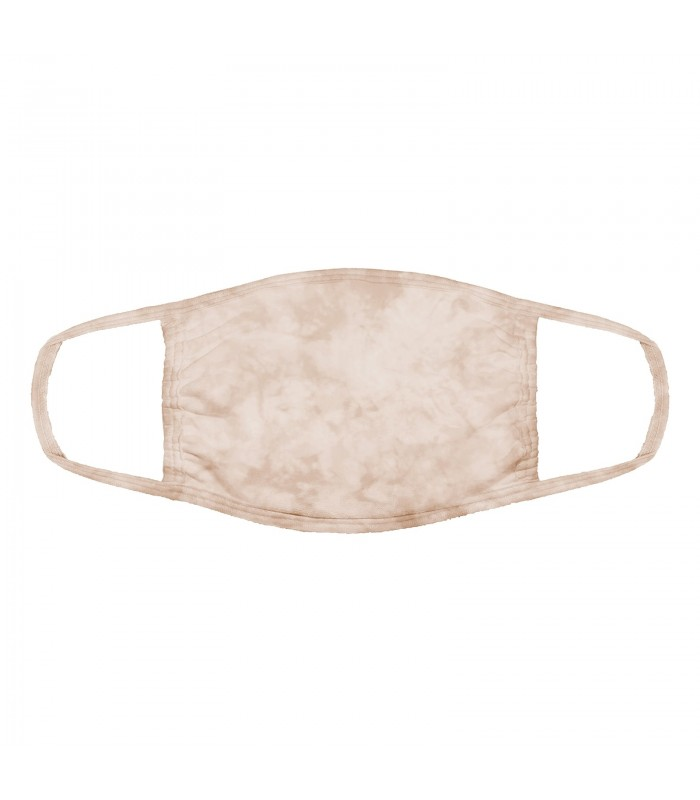 3-ply cotton face mask Light Tan design The Mountain