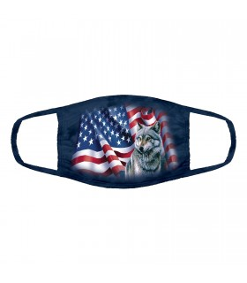 3-ply cotton face mask Wolf Flag design The Mountain