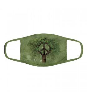 Masque facial 3 épaisseurs en coton motif Racines de paix The Mountain