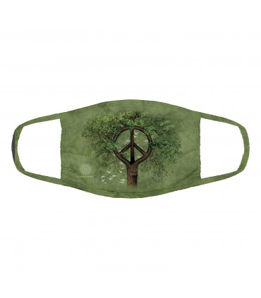3-ply cotton face mask Roots of Peace design The Mountain