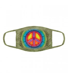 3-ply cotton face mask Peace Tie-Dye design The Mountain