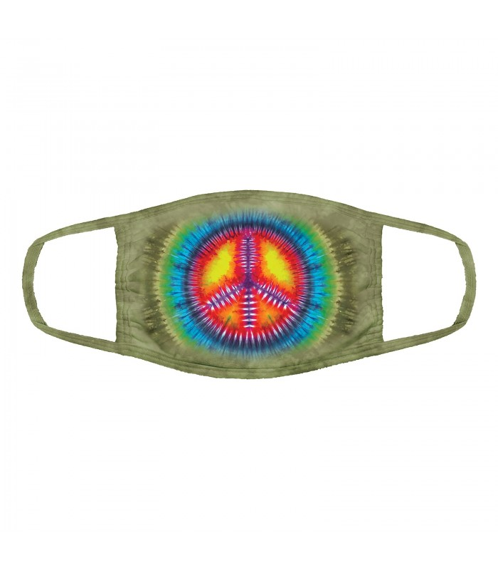 3-ply cotton face mask Peace Tie-Dye design The Mountain