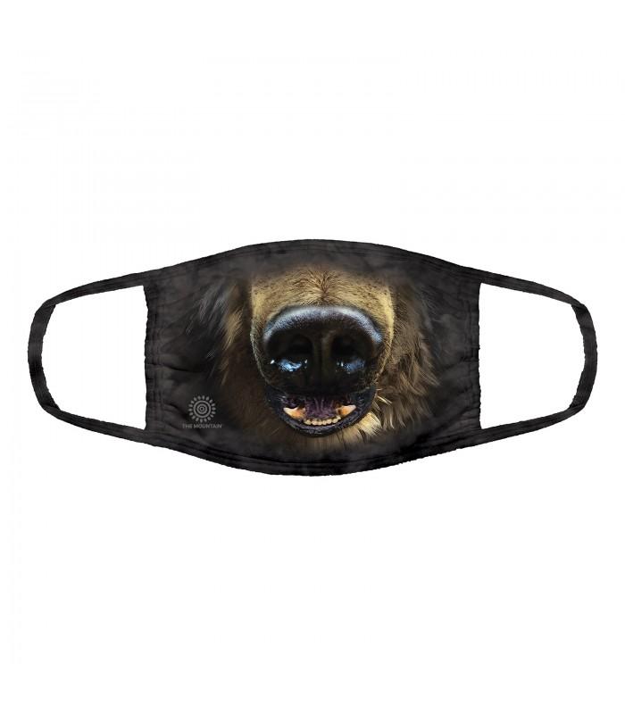 3-ply cotton face mask Black Bear Face design The Mountain