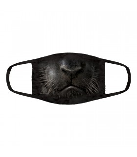 3-ply cotton face mask Black Panther Face design The Mountain