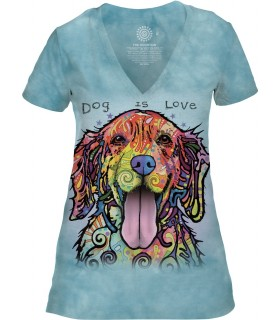 The Mountain Dog Is Love Womens Tri-Blend VNeck Pet T Shirt