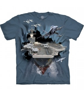 The Mountain Base Aircraft Carrier Breakthrough T-Shirt