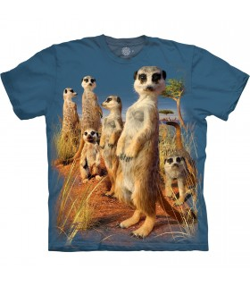 Tee-shirt Groupe de Suricates The Mountain Base