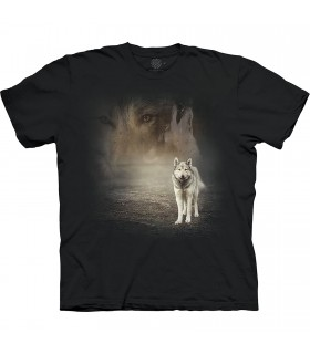 The Mountain Base Grey Wolf Portrait T-Shirt
