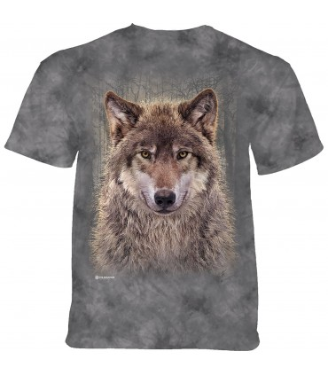 The Mountain Grey Wolf Forest T-Shirt
