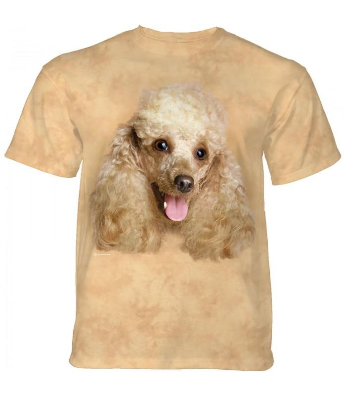 The Mountain Happy Poodle Portrait T-Shirt